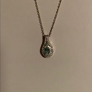 """COLOMBIA EMERALD NECKLACE, 20"""" CHAIN"""